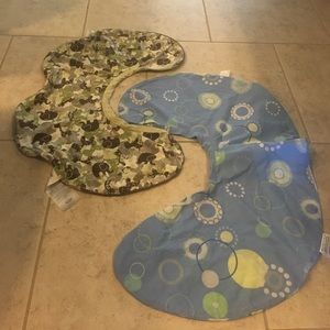 Two brand new boppy pillow covers